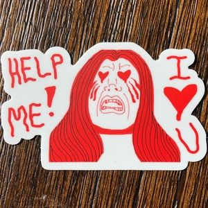 Help Me! I ❤️ U Sticker